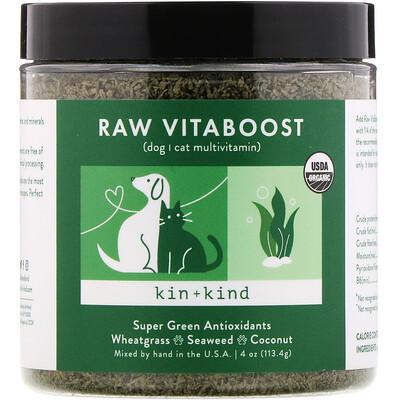 Купить Kin+Kind Raw VitaBoost, суперзеленые антиоксиданты, 113, 4г (4унции)