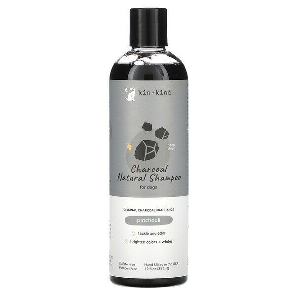 Kin+Kind, Charcoal Natural Shampoo for Dogs, Patchouli, 12 fl oz (354 ml)
