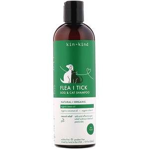 Kin+Kind, Flea | Tick, Dog & Cat Shampoo, 12 fl oz (354 ml)