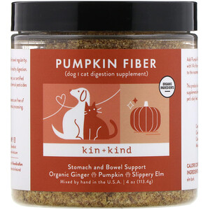 Kin+Kind, Pumpkin Fiber, Stomach and Bowel Support, 4 oz (113.4 g)
