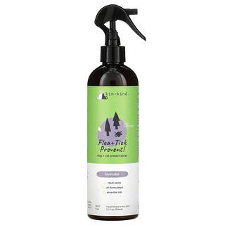 Kin+Kind, Flea + Tick Prevent, Dog + Cat Protect Spray, Lavender, 12 fl oz (354 ml)