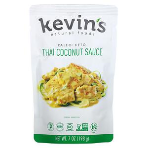Kevins Natural Foods, Thai Coconut Sauce, 7 oz (198 g)