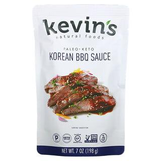 Kevins Natural Foods, Korean BBQ Sauce, Mild, 7 oz (198 g)