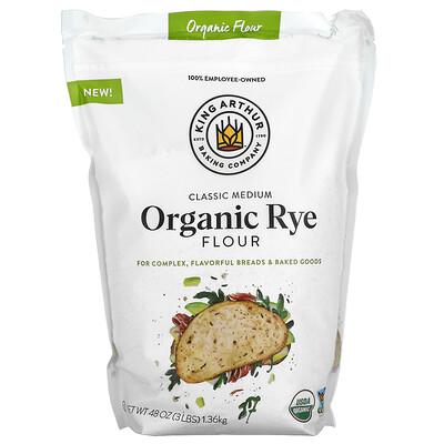 King Arthur Flour Classic Medium Organic Rye Flour, 3 lbs (1.36 kg)