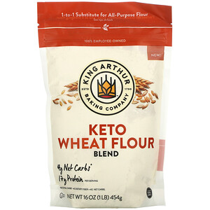 King Arthur Flour, Keto Wheat Flour Blend, 16 oz (454 g)
