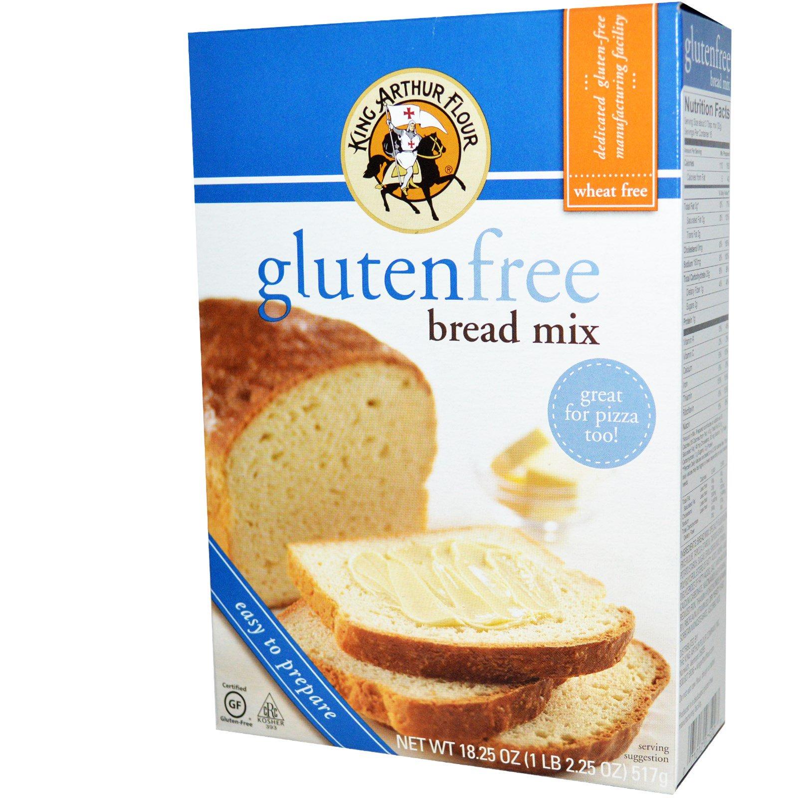 King Arthur Flour, Смесь для приготовления хлеба, без клейковины, 18.25 унций (517 г)