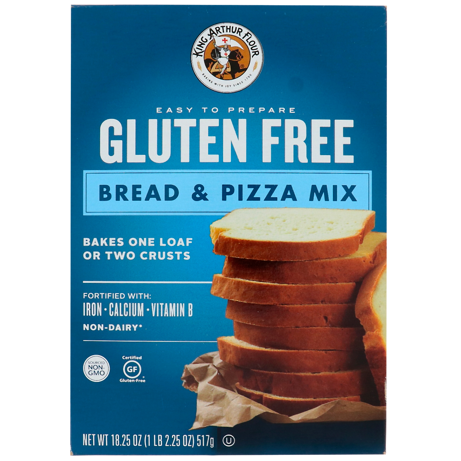 King Arthur Flour, Gluten Free, Bread & Pizza Mix, 18.25