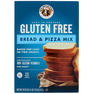 King Arthur Flour, Gluten Free, Bread & Pizza Mix, 18.25 oz (517 g)