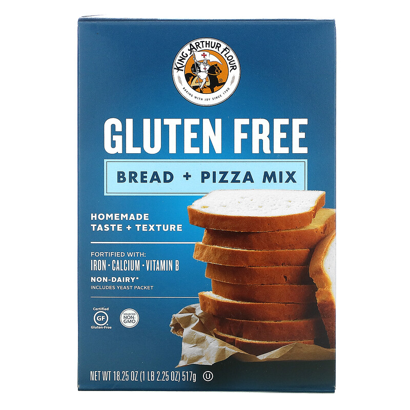King Arthur Flour, Bread + Pizza Mix, Gluten Free, 18.25 oz (517 g)
