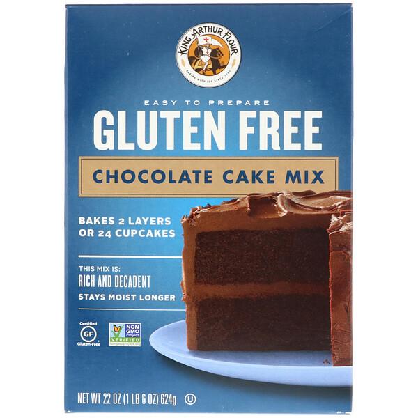 King Arthur Flour, Gluten Free Chocolate Cake Mix, 22 oz (624 g) (Discontinued Item)