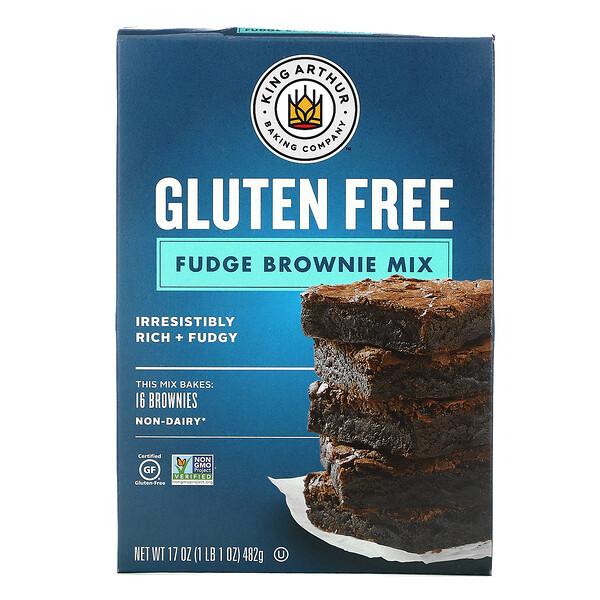 King Arthur Flour, Fudge Brownie Mix, Gluten Free, 17 oz (482 g)