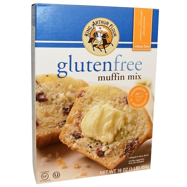 King Arthur Flour, 無麩質瑪芬蛋糕預拌粉,16盎司(454克)