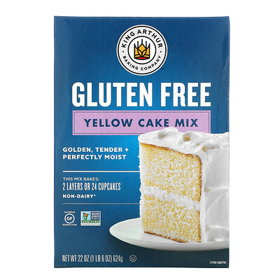 King Arthur Flour Yellow Cake Mix, Gluten Free, 22 oz (624 g)