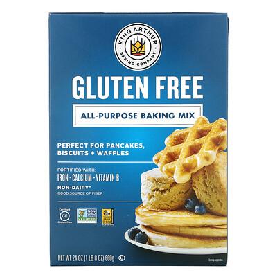 Купить King Arthur Flour All-Purpose Baking Mix, Gluten Free, 24 oz (680 g)