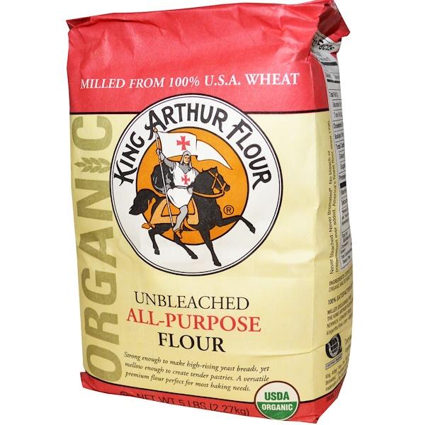 King Arthur Flour, Универсальная мука, неотбеленная, 5 фунтов (2,27 кг) (Discontinued Item)