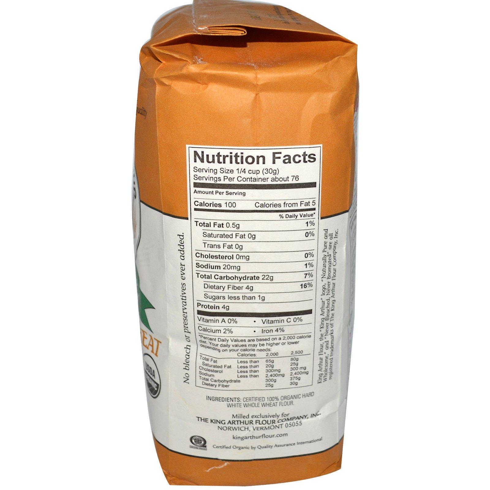 King Arthur Flour White Whole Wheat Flour 5 Lbs 2 27 Kg Iherb