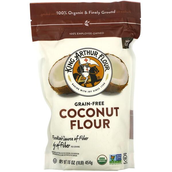 Coconut Flour, Grain-Free, 16 oz (454 g)