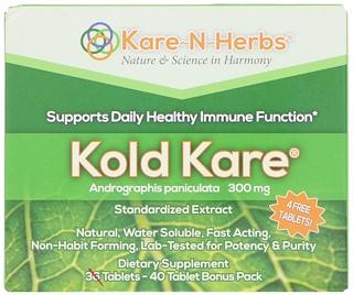 Kare n Herbs, Kold Kare, 300 mg, 40 Tabletas