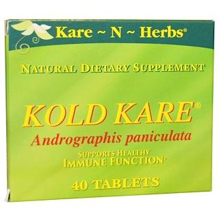 Kare n Herbs, Kold Kare, 40 Tablets