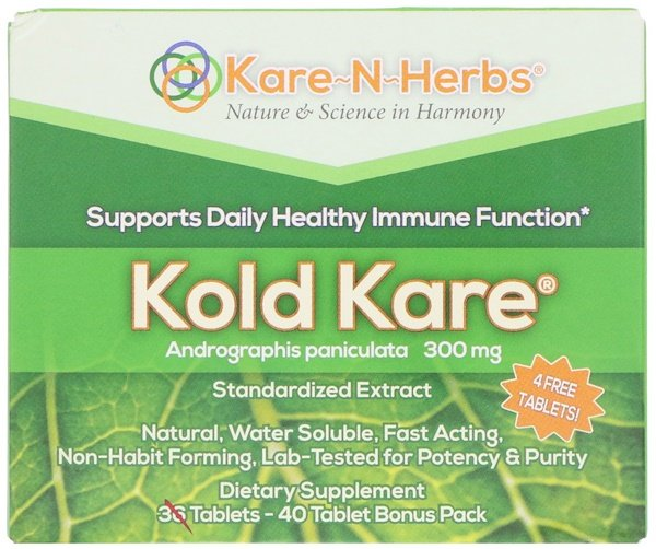 Kare n Herbs, Kold Kare, 300 mg, 40 Tablets (Discontinued Item)