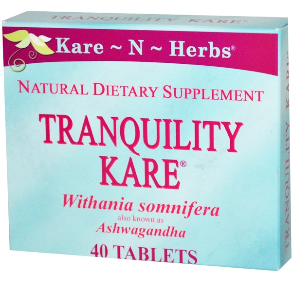 Kare n Herbs, Withania Somniferam, Tranquility Kare, 40 Tablets (Discontinued Item)