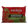 King Oscar, Wild Caught, Sardines In Extra Virgin Olive Oil, One Layer 8-12 Fish, 3.75 oz (106 g)