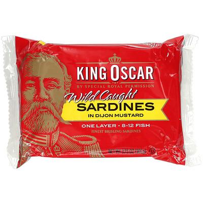 King Oscar Wild Caught, Sardines In Dijon Mustard, 3.75 oz (106 g)