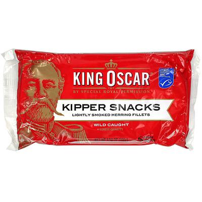 King Oscar Kipper Snacks, Lightly Smoked Herring Fillets, 3.54 oz (100 g)