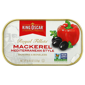 King Oscar, Royal Fillets, Mackerel Mediterranean Style, 4.05 oz (115 g)'