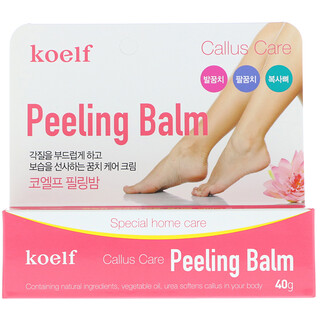 Koelf, Callus Care Peeling Balm, 40 g