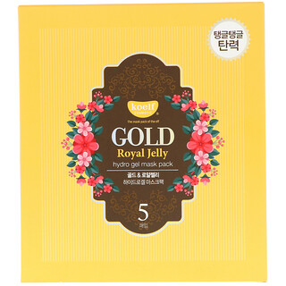 Koelf, Gold Royal Jelly Hydro Gel Mask Pack, 5 Masks, 30 g Each