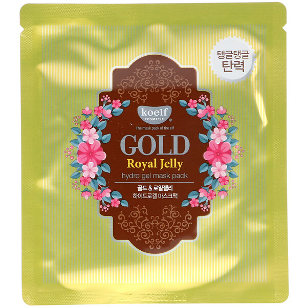 Gold Royal Jelly Hydro Gel Mask Pack, 5 Sheets, 30 g Each