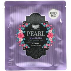 Koelf, 珍珠乳木果油,水凝膠美容面膜,5 片,每片 30 克