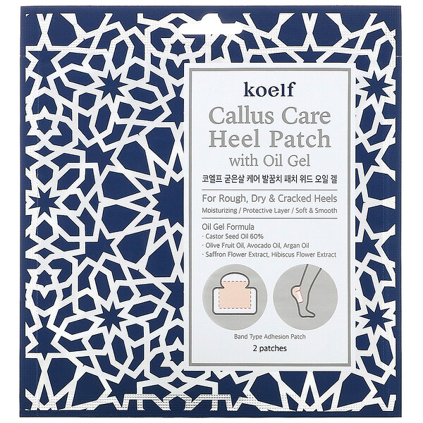 Callus Care Heel Patch with Oil Gel, 3 Pouches