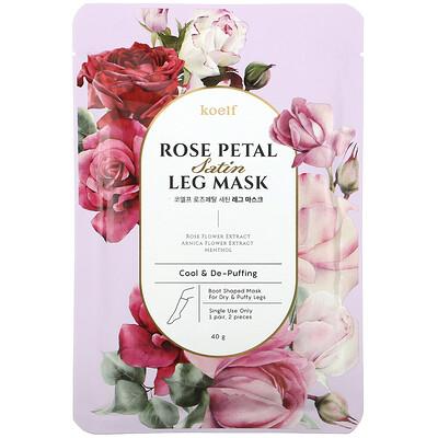 Купить Koelf Rose Petal Satin Leg Mask, 1 Pair, 40 g