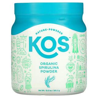 KOS, Organic Spirulina Powder, 13.5 oz (381.5 g)