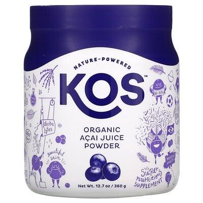 Купить KOS Organic Acai Juice Powder, 12.7 oz (360 g)