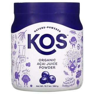 KOS, 有機抹巴西莓汁粉,12.7 盎司(360 克)