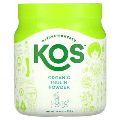 Купить KOS Organic Inulin Powder, 11.85 oz (336 g)