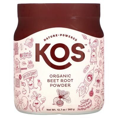 KOS Organic Beet Root Powder, 12.7 oz (360 g)