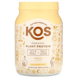 KOS, органический растительный протеин, со вкусом ванили, 1110г (2,4фунта)