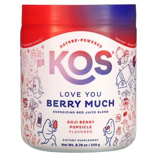 KOS, نحب التوت كثيرًا، مزيج العصير الأحمر المحفز، مصاصة بتوت الجوجي، 13.81 أونصة (391.6 جم)