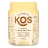 KOS, Organic Plant Protein, Vanilla, 1.2 lb (555 g)