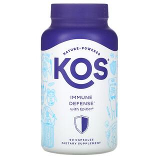 KOS, Immune Defense, добавка для защиты иммунитета с EpiCor, 90капсул
