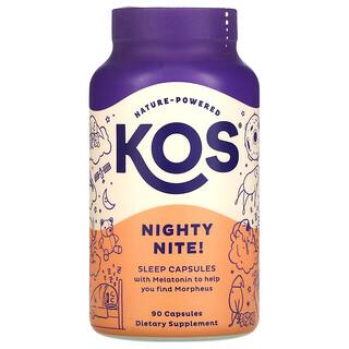 KOS, Nighty Nite!, Sleep Capsules, 90 Capsules