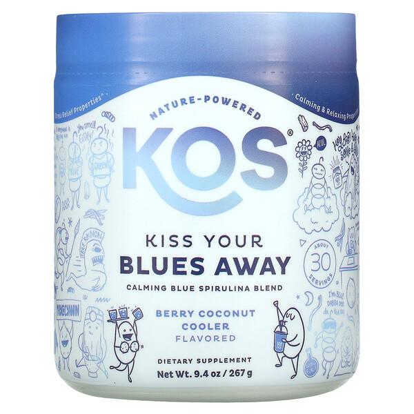 Kiss Your Blues Away, Calming Blue Spirulina Blend, Berry Coconut Cooler, 9.4 oz (267 g)