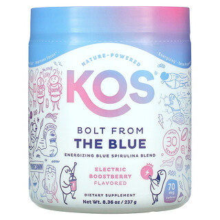KOS, Bolt from the Blue, Energizing Blue Spirulina Blend, Electric Boostberry Flavored, 8.36 oz (237 g)