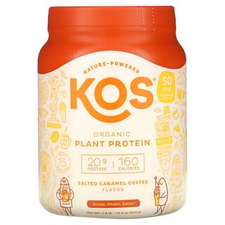 KOS, Organic Plant Protein, Salted Caramel Coffee, 1.2 lb (555 g)