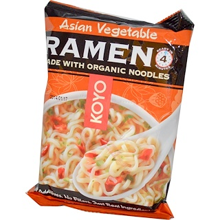 Koyo Natural Foods, Asian Vegetable Ramen, 2.1 oz (60 g)