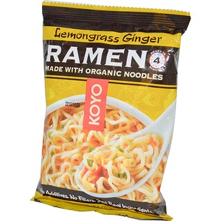 Koyo Natural Foods, Lemongrass Ginger Ramen, 2.1 oz (60 g)